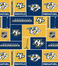 Nashville Predators Cotton Fabric -Block