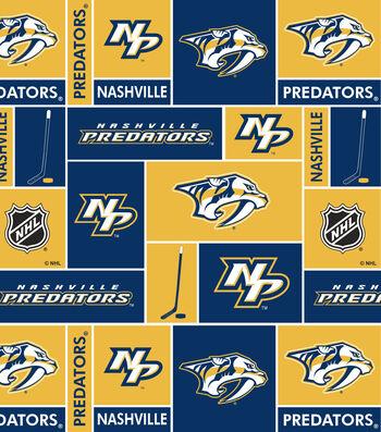 Nashville Predators Cotton Fabric 43''-Block