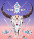 No Sew Fleece Throw 72\u0022-Aztec Skull