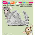 Stampendous House Mouse Cling Rubber Stamp 3.5\u0022X4\u0022 Sheet-Scent Of Lilac