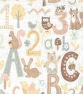 Nursery Fabric Alphabet Breeze Flannel