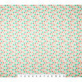Super Snuggle Flannel Fabric-Blue Coral Hearts And Dots