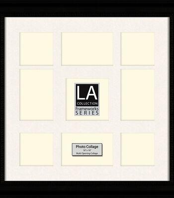 LA Collection Collage Frame 18x18-Black/Cream