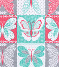 Snuggle Flannel Fabric -Butterfly Patchwork
