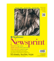 "Strathmore Smooth Newsprint Paper Pad 18""X24""-32lb 50 Sheets, , hi-res"