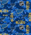 St. Louis Blues Fleece Fabric -Digital