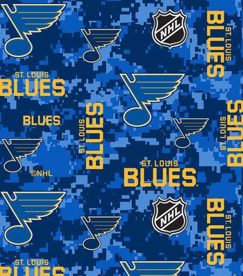 St. Louis Blues Fleece Fabric-Digital