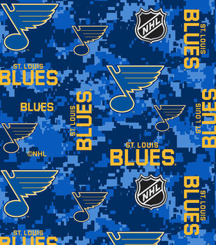 St. Louis Blues Fleece Fabric-Digital