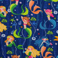 Super Snuggle Flannel Fabric-Pearls and Mermaids