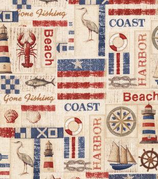 Patriotic Cotton Fabric-Patriotic Harbor View