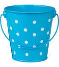 Teacher Created Resources Polka Dots Bucket, Aqua, Pack of 6