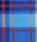Anti-Pill Fleece Fabric -Blue & Red Plaid