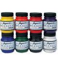 Jacquard Textile Fabric Paint 2.25oz 8/Pkg-Primary & Secondary