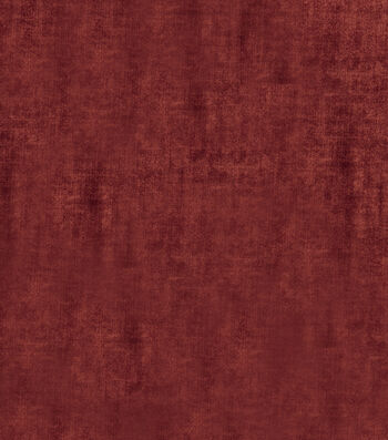 "Jaclyn Smith Upholstery Fabric 54""-Theater Velvet/Poppy"