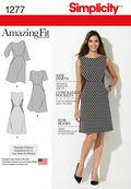 Simplicity Pattern 1277BB 20W-28W -Misses Dress