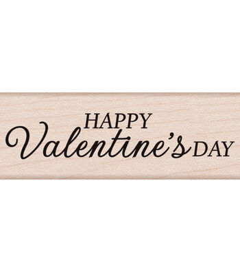 """Hero Arts Mounted Rubber Stamp 2.75""""X1""""-Happy Valentine's Day"""