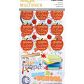 Paper House Sticky Pix Pack of 49 Flip Pack Stickers-School