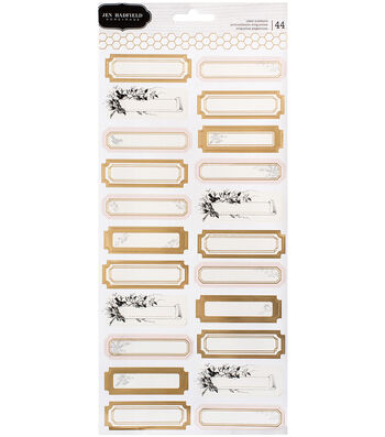 """Jen Hadfield Heart Of Home Label Stickers 5.5""""X12""""-Gold Foil Accents"""