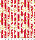 Snuggle Flannel Fabric 42\u0022-Movie Popcorn