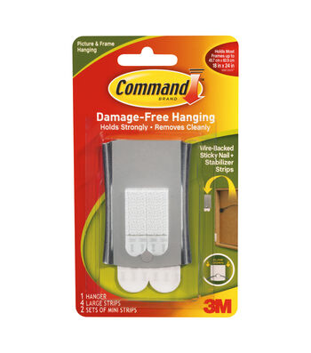 Command Sticky Nail Wire Back Hanger