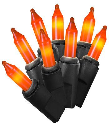 Maker's Halloween 50 ct Orange String Lights