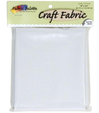 "Craft Cotton Fabric-Solids 45"" Wide 1/2 Yard Cut-White 1/Pkg"