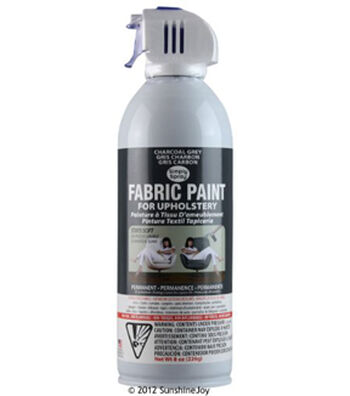 Upholstery Spray Fabric Paint 8oz- Charcoal Grey