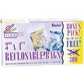 Reclosable Plastic Bags 3\u0022X4\u0022 300/Pkg