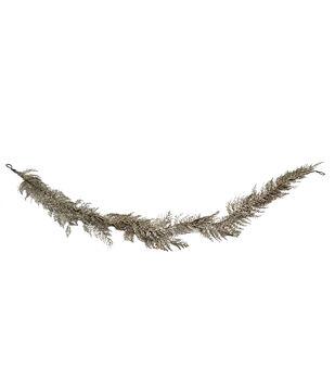 Handmade Holiday Christmas Glitter Fern Garland-Gold