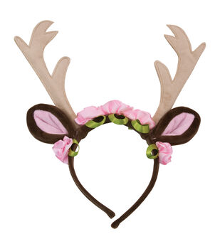 Maker's Halloween 11''x8'' Deer Headpiece with Flowers