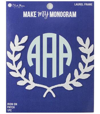 Make My Monogram Iron-On Laurel Framel Patch