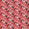 Disney Knit Fabric-Mickey & Minnie Hello