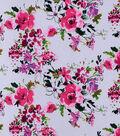 Sportswear Stretch Twill Fabric 31\u0027\u0027-Floral on Gray