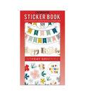 American Crafts Sticker Book 30/Pkg-Birthday Greetings W/Gold Foil