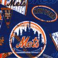 New York Mets Fleece Fabric-Vintage