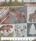 Anti-Pill Plush Fleece Fabric-Lodge Animals Patch