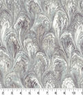 Premium Wide Cotton Fabric-Gray Oil Slick