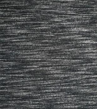 Ponte Knit Fabric 60''-Black & White Space Dye