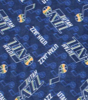 Utah Jazz Fleece Fabric -Logo Toss