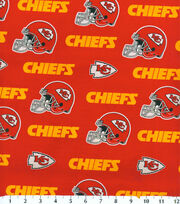 Kansas City Chiefs Cotton Fabric -Mascot Logo, , hi-res