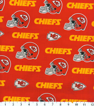 Kansas City Chiefs Cotton Fabric -Mascot Logo