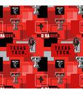 Texas Tech University Red Raiders Cotton Fabric 43\u0027\u0027-Modern Block