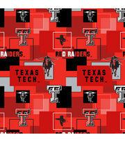 Texas Tech University Red Raiders Cotton Fabric 43''-Modern Block, , hi-res