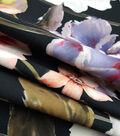 Modern Vintage Scuba Knit Fabric 57\u0027\u0027-Multi Garden Floral on Black