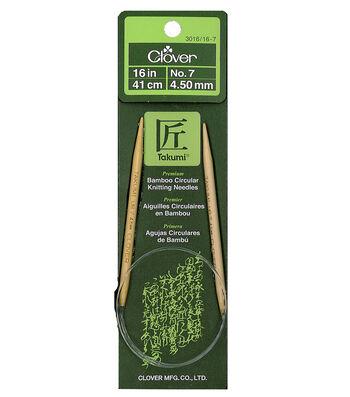 "Takumi Bamboo Circular Knitting Needles 16""-Size 7/4.5mm"