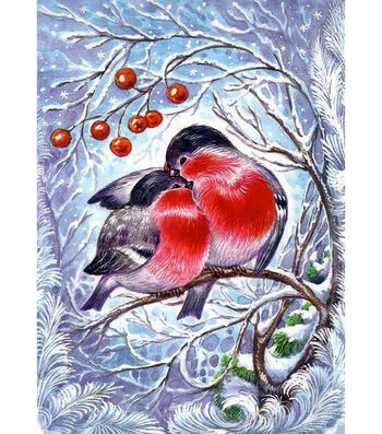 Collection D'Art Diamond Embroidery Painting Technique Kit-Bullfinches