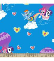 Hasbro My Little Pony Print Fabric-Pony Rainbows, , hi-res