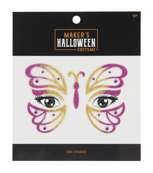 Maker's Halloween Costume Face Stickers-Fairy Wings