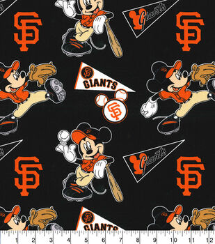San Francisco Giants Cotton Fabric-Mickey