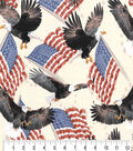 Patriotic Cotton Fabric-Eagles and Flags